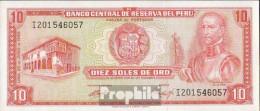 Peru Pick-Nr: 100a Bankfrisch 1969 10 Soles - Peru