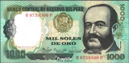Peru Pick-Nr: 122a Bankfrisch 1981 1.000 Soles De Oro - Peru