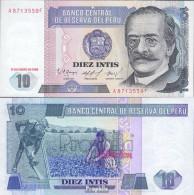 Peru Pick-Nr: 128 (1986) Bankfrisch 1986 10 Intis - Peru