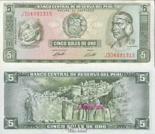 Peru Pick-Nr: 99c (08/1974) Bankfrisch 1974 5 Soles - Peru