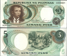 Philippinen Pick-Nr: 143a Bankfrisch 1969 5 Piso - Philippinen