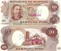 Philippinen Pick-Nr: 144b Bankfrisch 1969 10 Piso - Philippinen