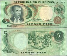 Philippinen Pick-Nr: 148a Bankfrisch 5 Piso - Philippinen