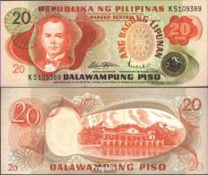 Philippinen Pick-Nr: 162a Bankfrisch 1978 20 Piso - Philippinen