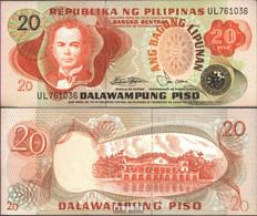 Philippinen Pick-Nr: 162b Bankfrisch 1978 20 Piso - Philippinen