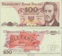 Polen 143e (1988) Bankfrisch 1988 100 Zloty - Polen