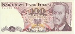 Polen Pick-Nr: 143e (1986) Bankfrisch 1986 100 Zloty - Polen