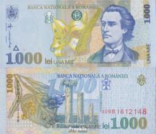 Rumänien Pick-Nr: 106 Bankfrisch 1998 1.000 Lei Blumen - Romania
