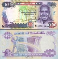 Sambia 34a Bankfrisch 1991 100 Kwacha Adler - Zambie