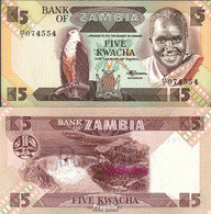 Sambia Pick-Nr: 25d Bankfrisch 1988 5 Kwacha Seeadler - Sambia