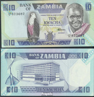Sambia Pick-Nr: 26e Bankfrisch 1988 10 Kwacha Seeadler - Zambie