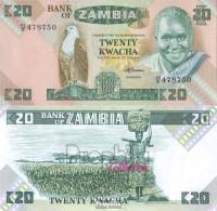 Sambia Pick-Nr: 27e Bankfrisch 1988 20 Kwacha Seeadler - Sambia