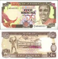Sambia Pick-Nr: 30a Bankfrisch 1989 5 Kwacha - Sambia