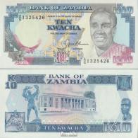 Sambia Pick-Nr: 31b Bankfrisch 1989 10 Kwacha - Sambia