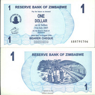 Simbabwe Pick-Nr: 37 Bankfrisch 2006 1 Dollar - Zimbabwe