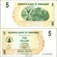 Simbabwe Pick-Nr: 38 Bankfrisch 2006 5 Dollars - Simbabwe