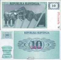 Slowenien Pick-Nr: 4a Bankfrisch 1990 10 Tolarjev - Slowenien