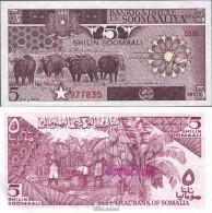 Somalia 31a Bankfrisch 1983 5 Shilling Büffel - Somalie
