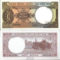 Süd-Vietnam Pick-Nr: 15a Bankfrisch 1964 1 Dong - Vietnam