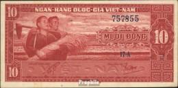 Süd-Vietnam Pick-Nr: 5a Gebraucht (III) 1962 10 Dong - Vietnam