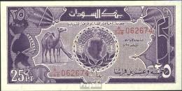 Sudan Pick-Nr: 37 Bankfrisch 1987 25 Piastres Kamele - Sudan