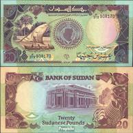 Sudan Pick-Nr: 47 Bankfrisch 1991 20 Pounds Segelboot - Sudan