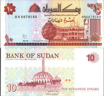 Sudan Pick-Nr: 52a Bankfrisch 1993 10 Dinars - Sudan