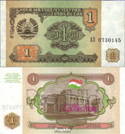 Tadschikistan Pick-Nr: 1a Bankfrisch 1994 1 Rubel - Tadjikistan
