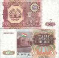 Tadschikistan Pick-Nr: 8a Bankfrisch 1994 500 Rubles - Tadjikistan