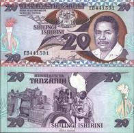 Tansania Pick-Nr: 15 Bankfrisch 1987 20 Shilingi - Tanzanie