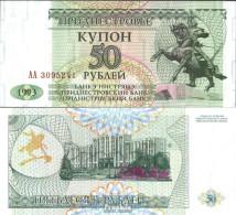 Transdniestria Pick-Nr: 19 Bankfrisch 1993 50 Rublei - Banknoten