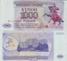 Transdniestria Pick-Nr: 23 Bankfrisch 1993 1.000 Rubles - Banknoten
