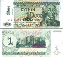 Transdniestria Pick-Nr: 29A Bankfrisch 1998 10.000 Rublei On 1 Ruble - Banknotes