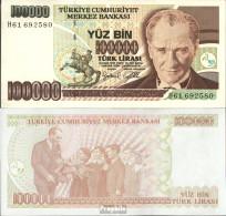 Türkei Pick-Nr: 206 Bankfrisch 1997 100.000 Lira - Türkei