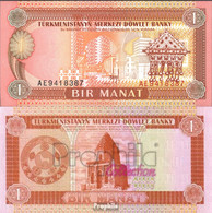 Turkmenistan Pick-Nr: 1 Bankfrisch 1993 1 Manat - Turkmenistan