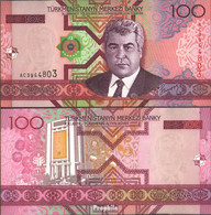 Turkmenistan Pick-Nr: 18 Bankfrisch 2005 100 Manat - Turkménistan