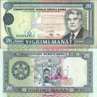 Turkmenistan Pick-Nr: 4b Bankfrisch 1995 20 Manat - Turkmenistan