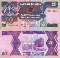 Uganda Pick-Nr: 29b Bankfrisch 1988 20 Shillings - Ouganda