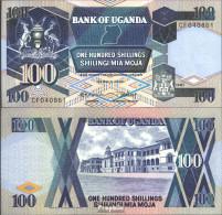 Uganda Pick-Nr: 31a Bankfrisch 1987 100 Shillings - Ouganda