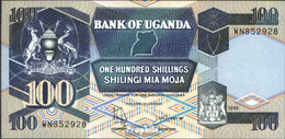 Uganda Pick-Nr: 31c (1998) Bankfrisch 1998 100 Shillings - Uganda