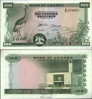 Uganda Pick-Nr: 5a Bankfrisch 1966 100 Shillings - Ouganda