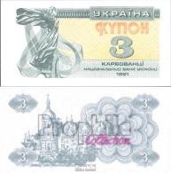 Ukraine 82a Bankfrisch 1991 3 Karbovanets - Ukraine