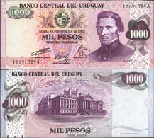 Uruguay Pick-Nr: 52 Bankfrisch 1974 1.000 Pesos - Uruguay