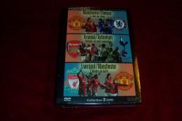 COFFRET   PRESTIGE DU FOOTBALL °  MANCHESTER / CHELSEA + ?ARSENAL / TOTTENHAM  +  LIVERPOOL / MANCHESTER   2 DVD - Sport