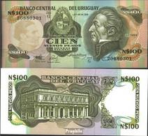 Uruguay Pick-Nr: 62A Bankfrisch 1987 100 Nuevos Pesos - Uruguay