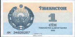 Usbekistan Pick-Nr: 61a Bankfrisch 1992 1 Sum - Ouzbékistan