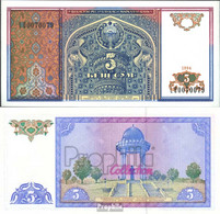 Usbekistan Pick-Nr: 75a Bankfrisch 1994 5 Sum - Ouzbékistan