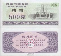 Volksrepublik China Arikel: Lila B Chinesischer Reisgutschein Bankfrisch 1987 1/2 Jin - China