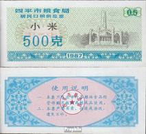 Volksrepublik China Blau A Chinesischer Hirsegutschein Bankfrisch 1987 0,5 Jin - China