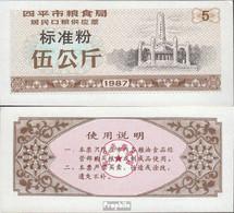 Volksrepublik China Braun C Chinesischer Mehlgutschein Bankfrisch 1987 5 Jin - China